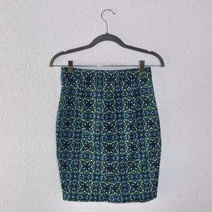 The Limited Graphic Pencil Skirt